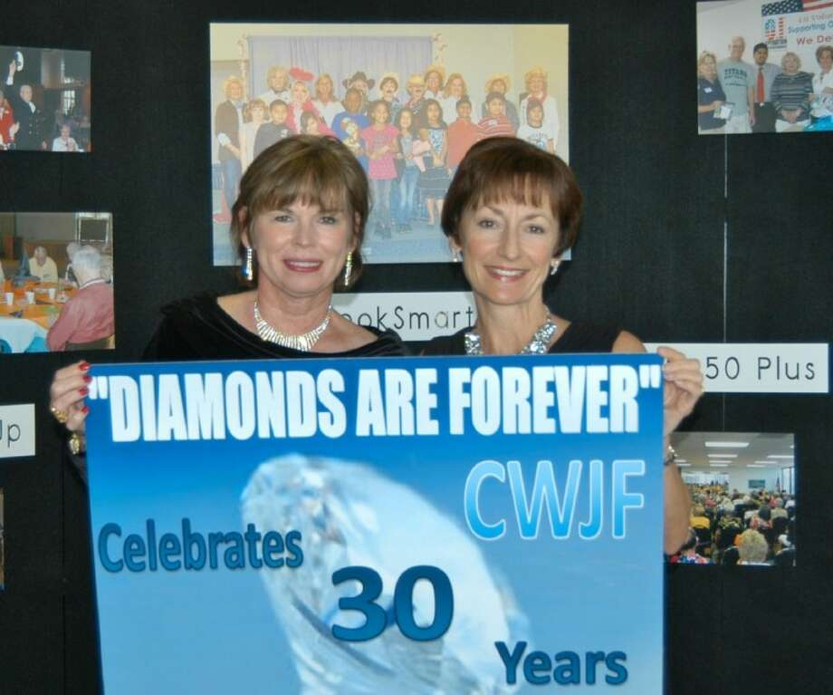 Shirley Robare and Julie Scandridge, Co-chairs of Diamonds Are Forever, the March 31 Cypress-Woodlands Junior Forum event.