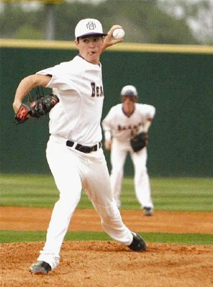 Montgomery left-hander Max Page fires against Willis on Tuesday night.