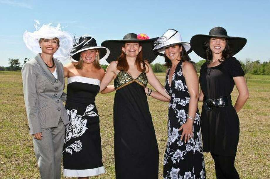 Pictured at the first annual ?Tea on The Lawn? last year are, from left, Candi Glenn, Lorri Petrauskas, Patti Rivela, Stephanie Milstead and Audra Hogemeyer.