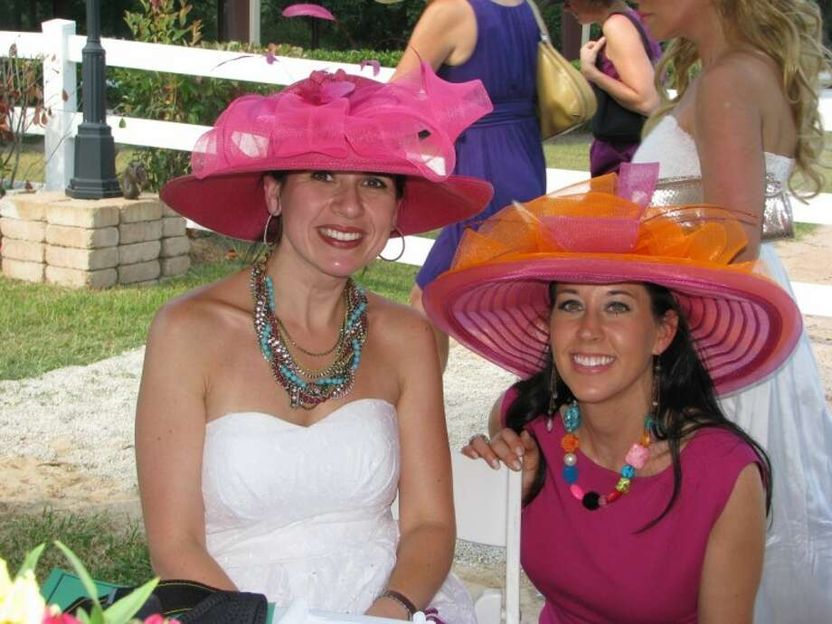 """The """"Run for the Roses"""" Kentucky Derby Gala features a """"Fabulous Hat Contest."""" Last year's winners were Adri Strait, left, and Fawn Creighton. This year's event is set for May 5."""