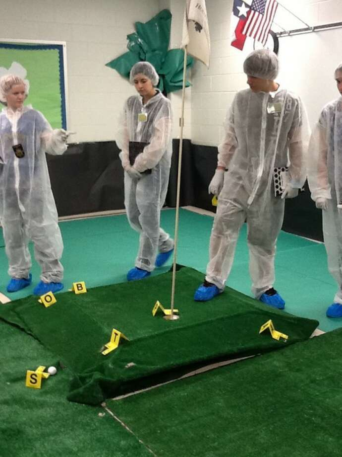 Students in forensic science classes at Magnolia West High School have been working for six weeks to solve a mock homicide using the skills they have learned during the school year. They hope to solve the case by the second week of May.