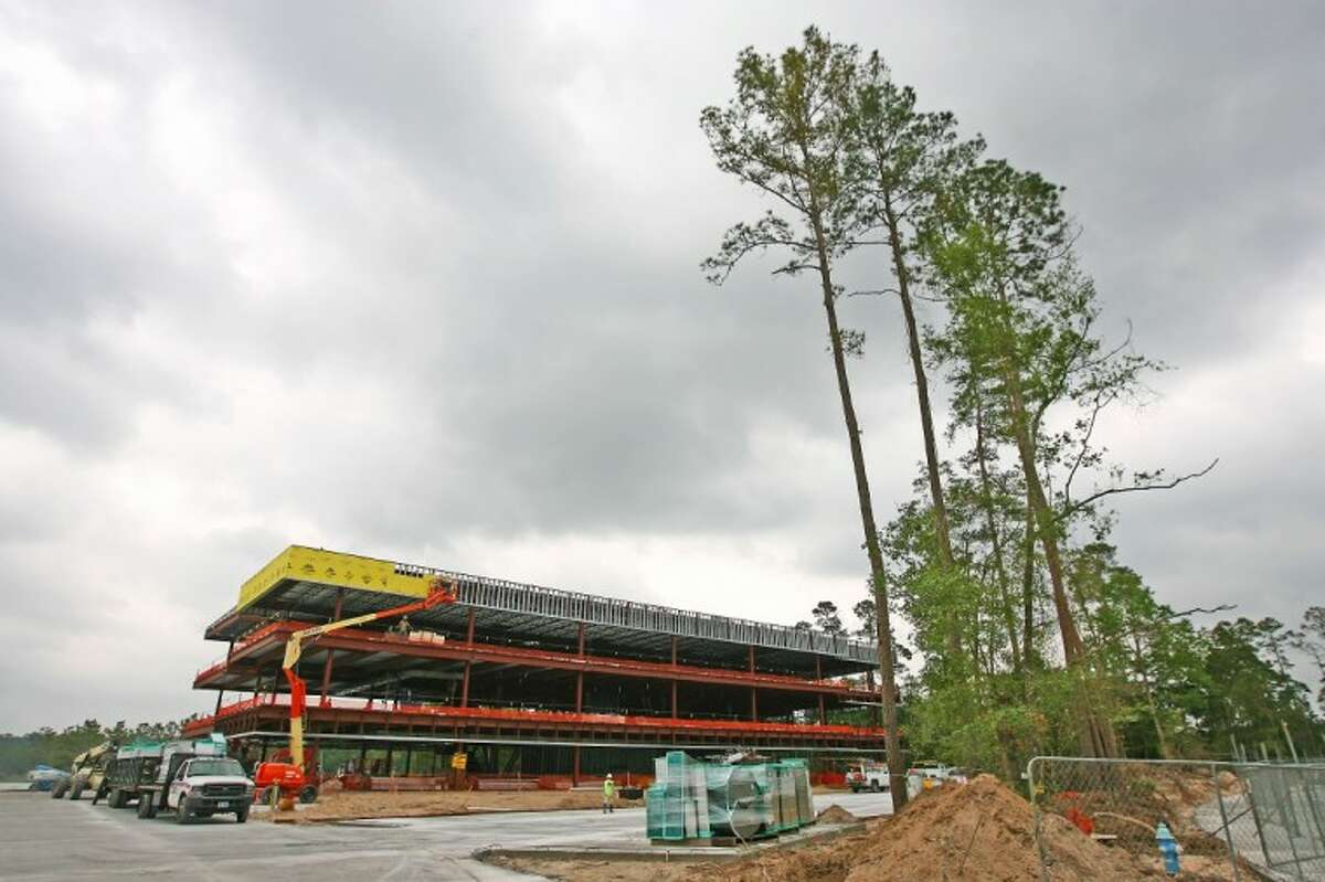 Warmack Investments is building a Class A office park along Lake Woodlands. This building will be complete in the fall.