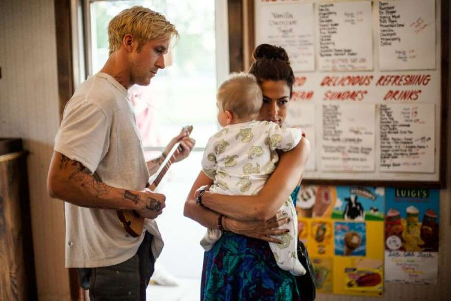 "Ryan Gosling and Eva Mendes in ""The Place Beyond The Pines."""