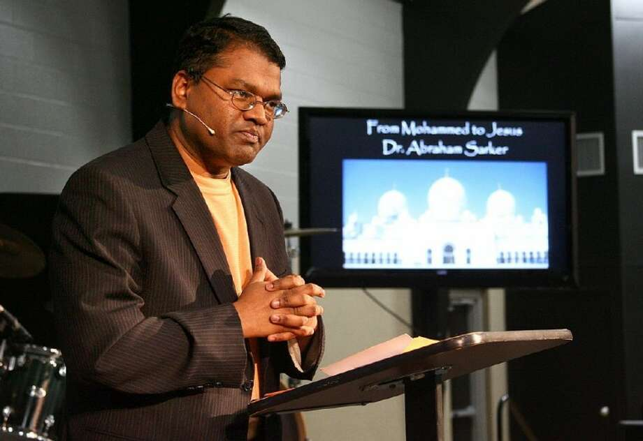 Dr. Abraham Sarker, a former Muslim who converted to Christianity was the featured speaker at the Men's Power Lunch Monday afternoon.