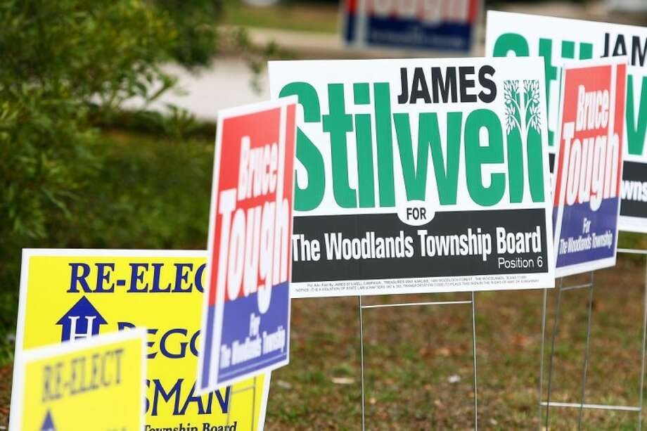 With early voting in full stride for the May 14 election for Position 6 on The Woodlands Township Board of Directors, challenger James Stilwell and incumbent Peggy Hausman have been using their thousands of dollars in campaign contributions to get out their messages.