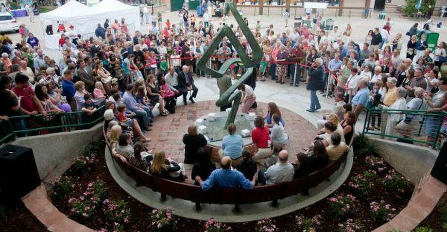 Members of the community joined the Mitchell family at the dedication of the Cynthia Woods Mitchell Smokedance Garden on Thursday at the Cynthia Woods Mitchell Pavilion in The Woodlands. / The Courier