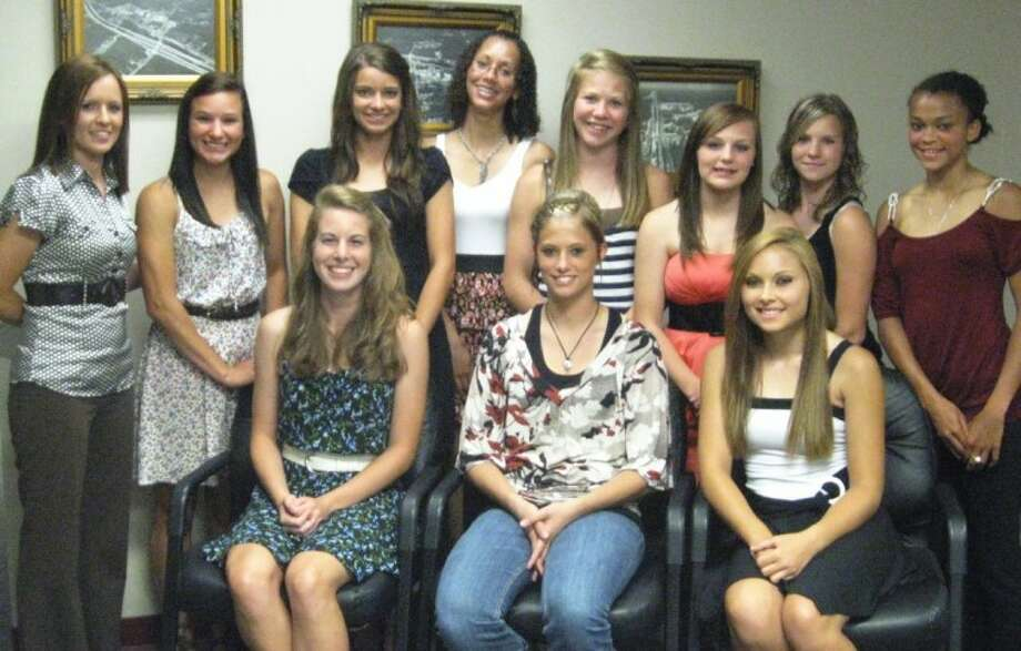 The following Splendora ISD girls track regional qualifiers were recently honored by the school board: Emily Tuxford, Pattie King, Mercedes Parker, Emily Richardson, Gloria Shibley, Natalie McOmber, Destiny Miles, Nikolle Cabrera, Amber Knott and Brandie Walters.