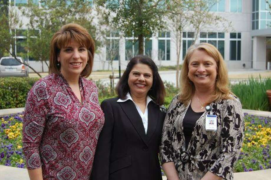 Memorial Hermann The Woodlands Diabetes Self-Management Program Team, from left, includes Laura Thomas, registered and licensed dietitian; Dr. Ulupi Choksi, endocrinologist and Mary Beth Pawlak, registered nurse.