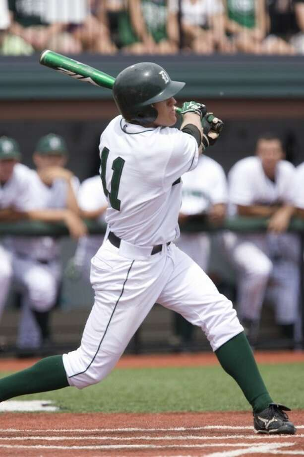 The Woodlands High School graduated Jake Carlson last week became the first player in Dartmouth baseball history to hit for the cycle. Photo: Mark Washburn