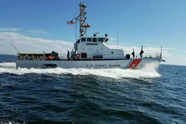A boat crew from the U.S. Coast Guard Station New Haven bid farewell to USCGC Flying Fish recently. The 87-foot Patrol Boat, Flying Fish, was transiting from its homeport in Boston, through the Long Island Sound for the last time.