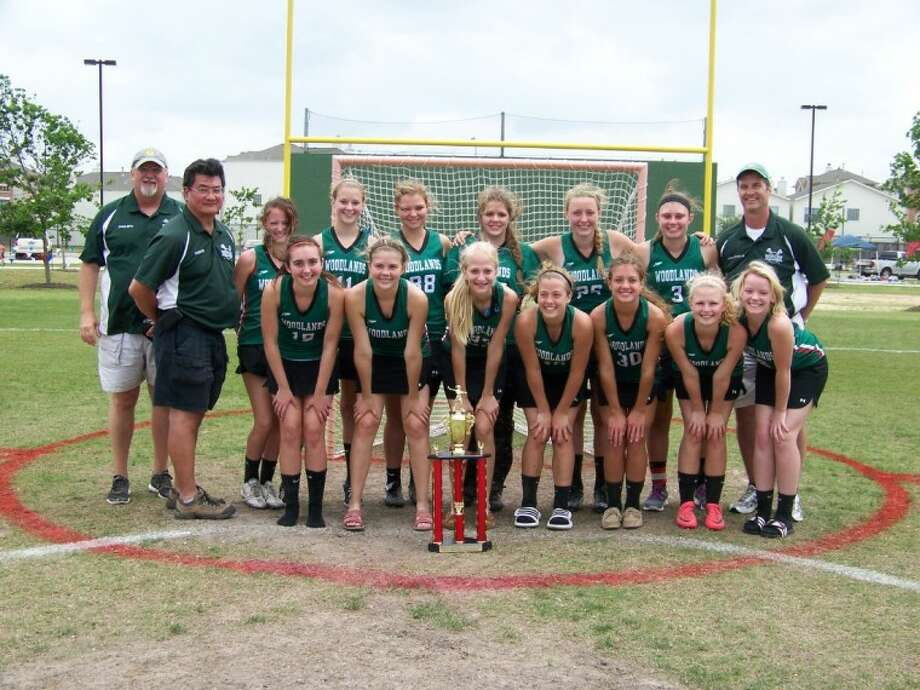 The Woodlands girls junior varsity won the Houston City Championship last weekend. Pictured, from left to right in the front row, are Sophia Marziale, Brittany Alter, Cady Roberts, Lydia Varnell, Mariah Goodrum, Caitlyn Conway and Shelby Satterwhite. In the back row are coaches Randy Brim and Lester Kim, Abby Seigel, Anne Deal, Laura Flannery, Nicole Steiner, Kendra Finney, Hannah Wallis and coach Eric Wallis.