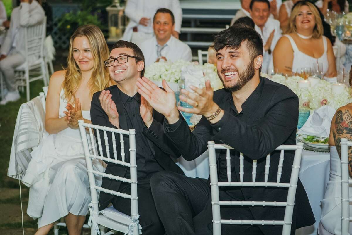 Designer Christian Siriano and musician Brad Walsh celebrated their wedding day at their country home in Danbury, Conn. on July 9, 2016.