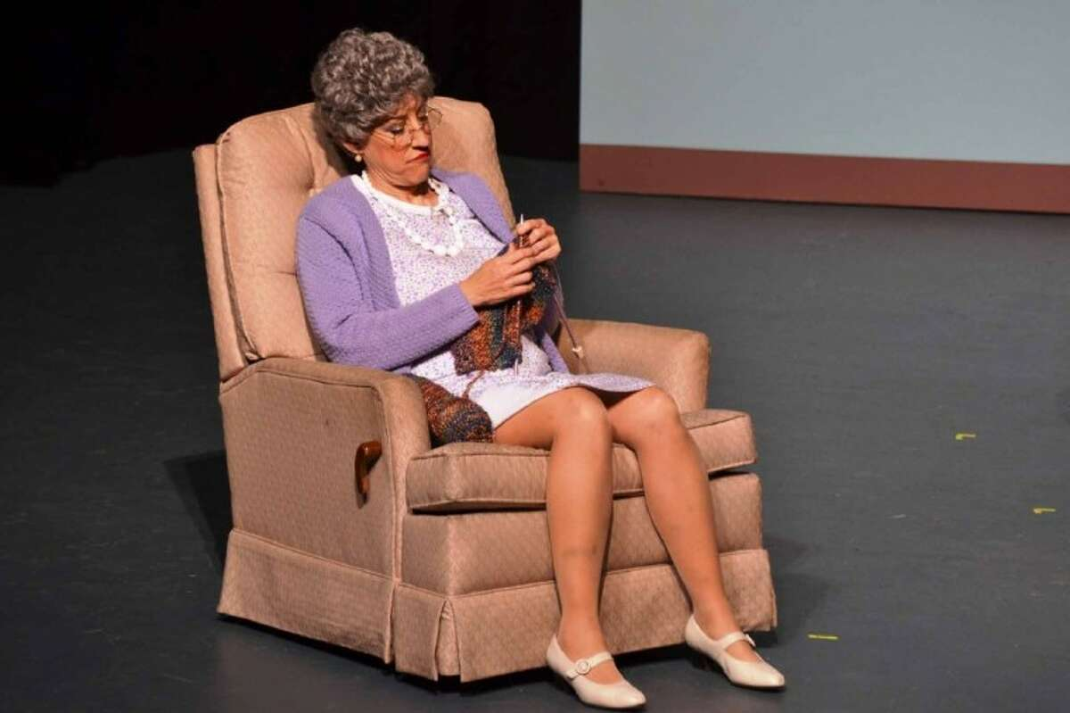 """Carolyn Corsano Wong in a skit from """"Mama's Family"""" that is a part of the current """"Carol Burnett Show"""" on stage at the Crighton Theatre through Sunday."""