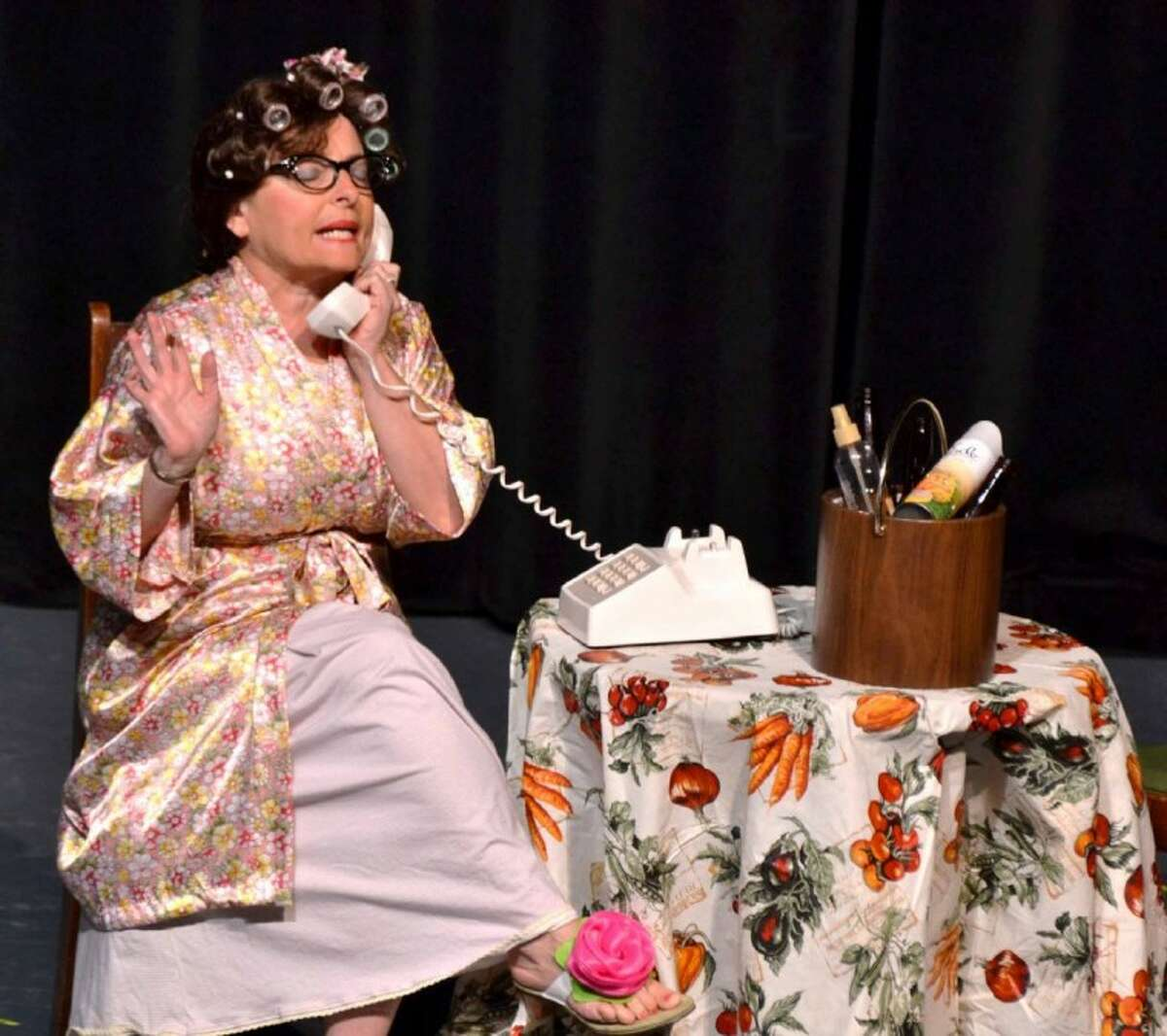 """Marcia Feldt Bates in the current """"Carol Burnett Show"""" on stage at the Crighton Theatre through Sunday."""