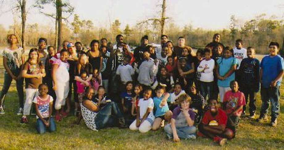 Kids from the Twelve Stones Youth program and Trinity Day Care enjoyed a camp out to teach kids about the dangers of drugs and alcohol.