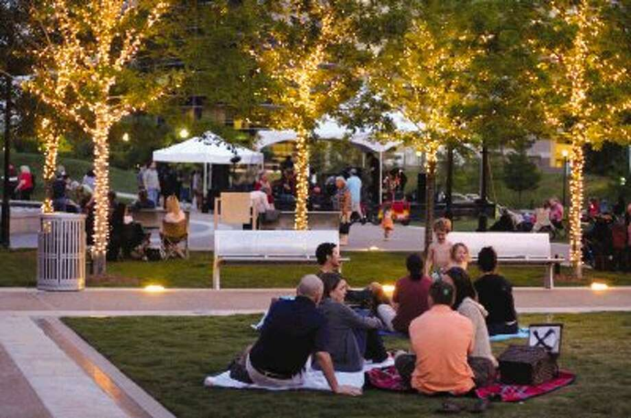 Enjoy fireworks and concerts in Waterway Square in The Woodlands this weekend. / Ted Washington