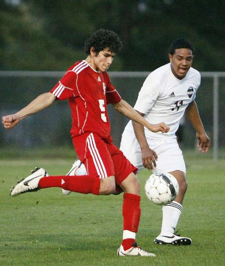 Caney Creek senior forward Julio Gonzalez is the Courier's All-County Player of the Year. Photo: Staff Photo By Eric Swist