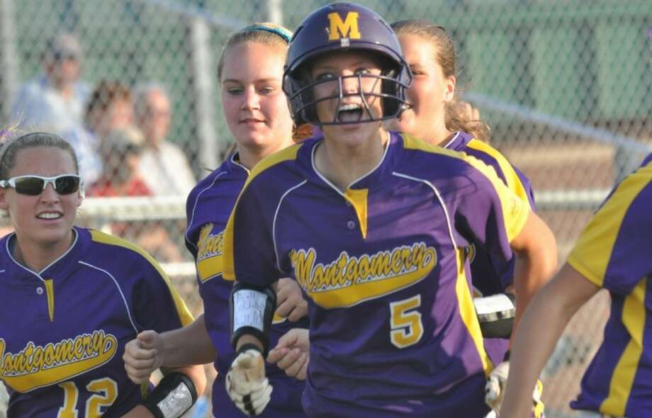 Montgomery catcher Cali Lanphear was named the All-District 17-4A MVP. Photo: Keith MacPherson