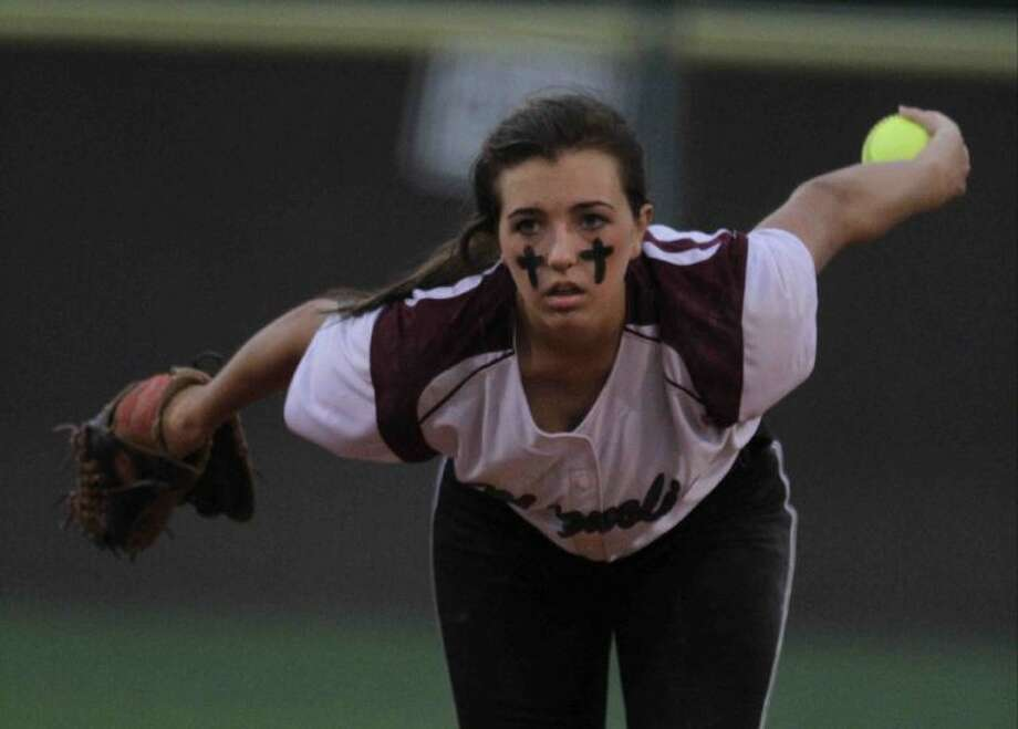 Magnolia's Codi Carpenter pitches during a District 18-4A game Tuesday at Magnolia High School. To view or purchase this photo and others like it, visit HCNpics.com. Photo: Staff Photo By Jason Fochtman