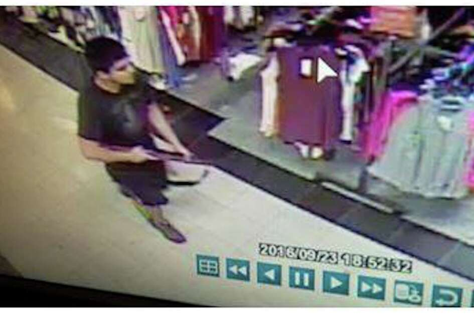 Image of the Cascade Mall shooting suspect, taken from mall  surveillance video and released by the Skagit County Department of  Emergency Management.