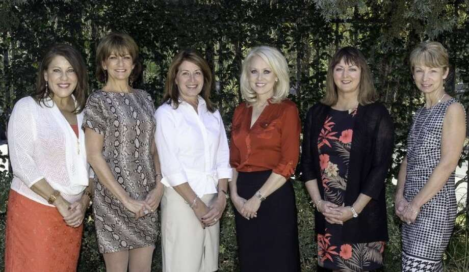 """Pictured are the chairs of the sub-committees who are busy planning """"Doorways to the Future"""", Montgomery County Habitat for Humanity's 2013 Building Hope Gala. From left to right are: Cindy Hageman, Decorations Chair; Sue Pagel, Special Events Chair; Lisa Koetting, Gala Co-Chair; Brenda Mizell, Gala Co-Chair; Lynda Gustafson, Invitations Chair; and Linda Reichardt, Volunteer Chair. Photo: DERRICK BRYANT PHOTOGRAPHY"""