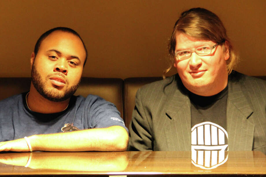 Chase Durousseau, left, and Russell Simek are Houston movie critics with a keen eye for cinema. / James Ridgway, Jr.