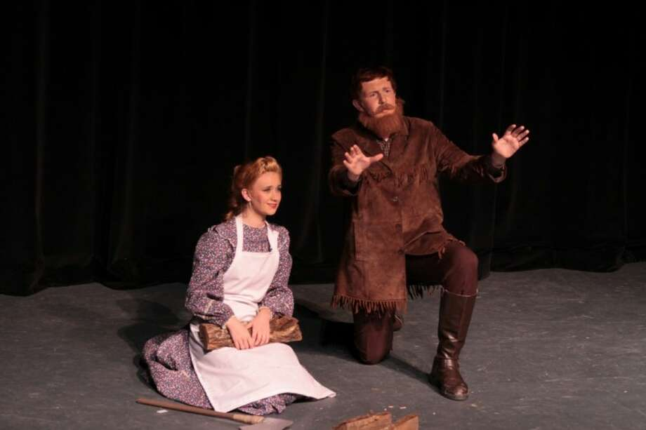 """Kalyn Hill, 17, and Austin Hartis, 14 as Milly and Adam in the recent Christian Youth Theatre production of """"7 Brides for & Brothers."""""""