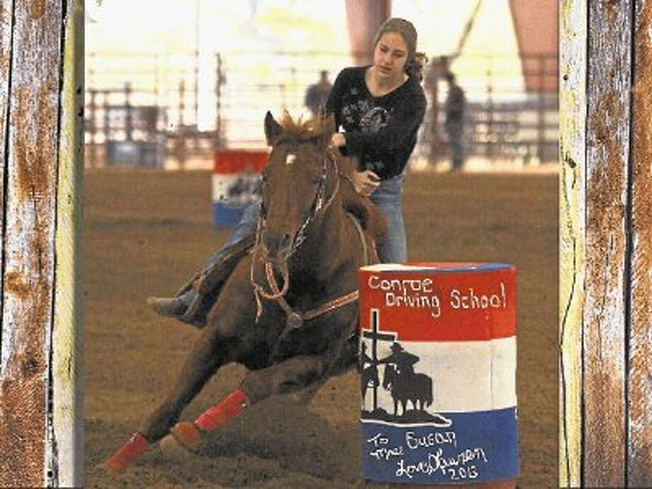 Lauren Holtkamp was the winner of the Barrel Race Buckle Series held in Montgomery. / @WireImgId=2619307
