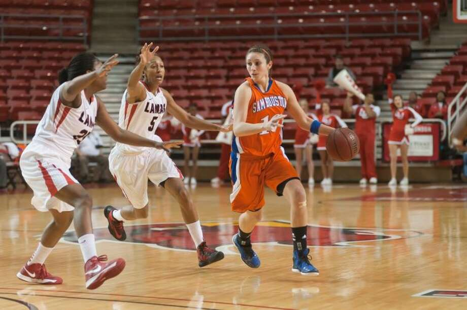 Conroe High School graduate Britni Martin leads Sam Houston State with 15.8 points per game. Photo: DAVID_BARFIELD