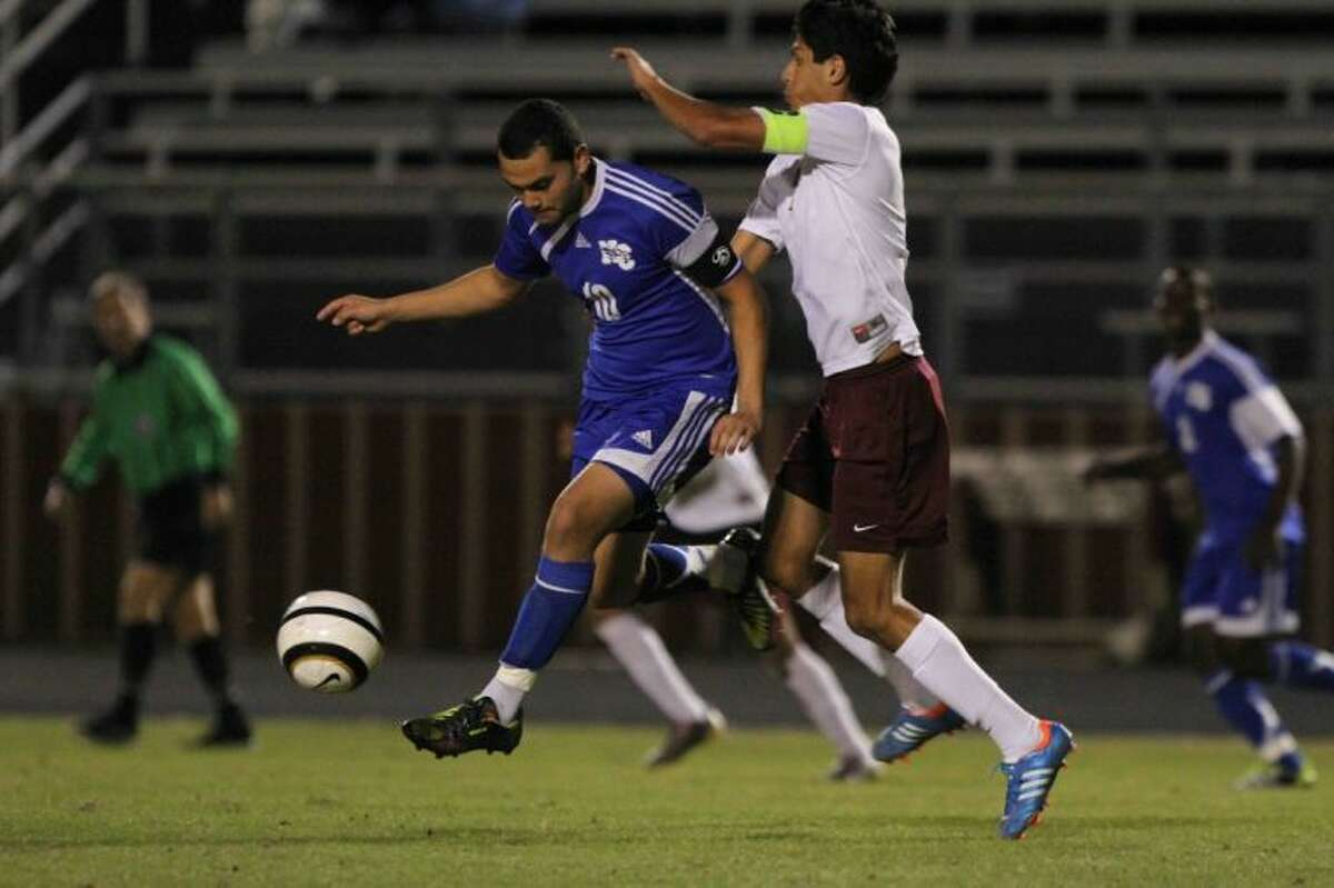 New Caney senior forward Brian Lopez is the Courier's All-County Offensive Player of the Year.