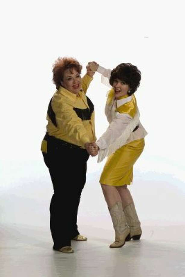 """Lastell McVey, plays Louise Seger, and Mary Allen-Keating plays Patsy Cline in the upcoming production of """"Always ... Patsy Cline"""" at the Crighton Theatre June 7-17."""