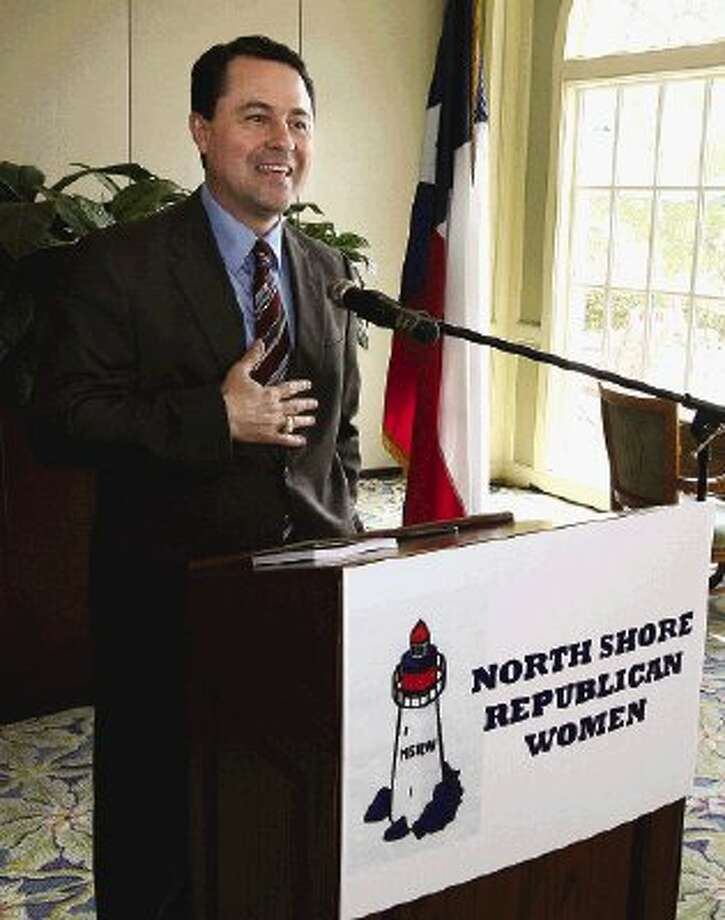 Texas Agriculture Commissioner Todd Staples was the featured speaker at the monthly meeting of the North Shore Republican Women at Bentwater Country Club Wednesday.