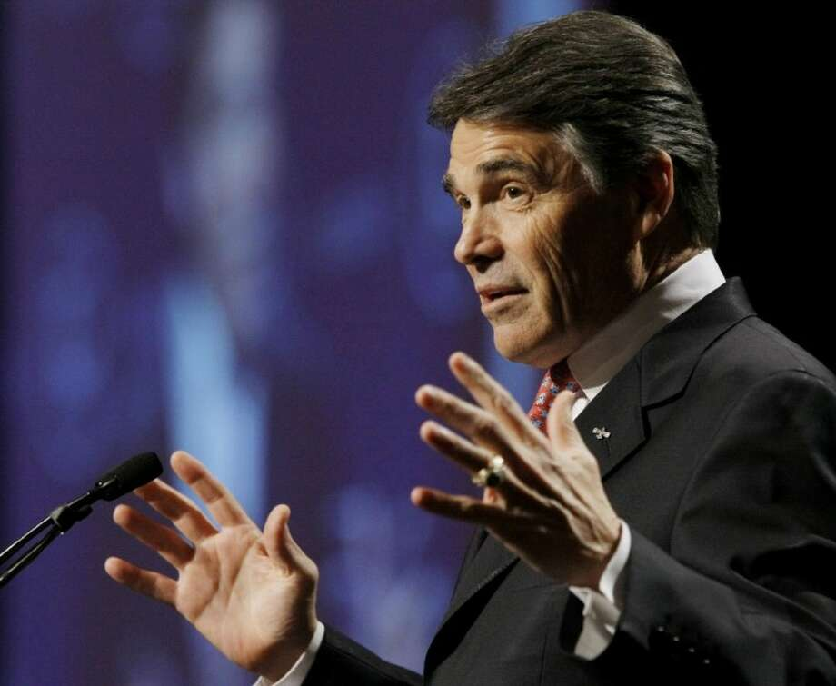 Texas Gov. Rick Perry speaks during the 28th annual National Association of Latino Elected and Appointed Officials conference Thursday in San Antonio.