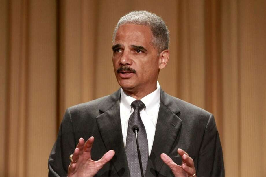 Attorney General Eric Holder speaks at the League of Women Voters National Convention in Washington, Monday. Photo: Jacquelyn Martin