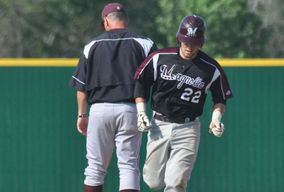 Magnolia's Justin Hickman was a unanimous first-team catcher selection on the All-District 17-4A all-district teams released recently.