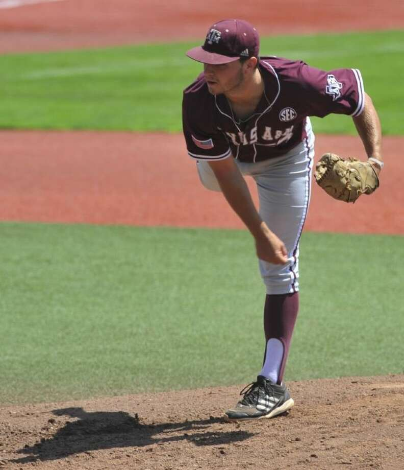 Texas A&M 's Parker Ray (54) pitches to UTSA during a regional NCAA college baseball game in Corvallis, Ore., Sat. June 1, 2013. (AP Photo/Greg Wahl-Stephens) Photo: Greg Wahl-Stephens