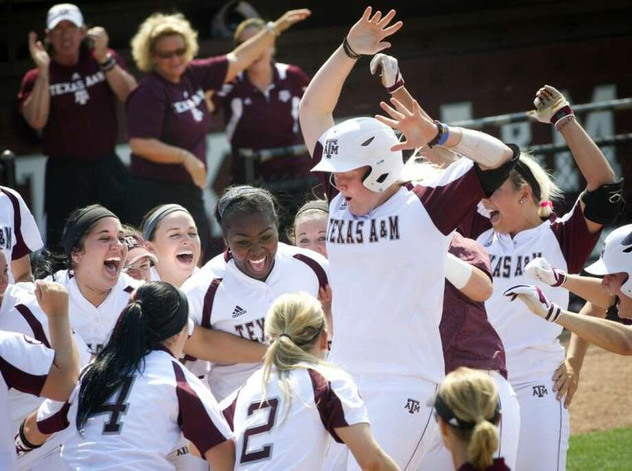 Texas A&M's Nicole Morgan, a graduate of College Park High School, is one of the top hitters in the Southeastern Conference. Photo: Stuart Villanueva