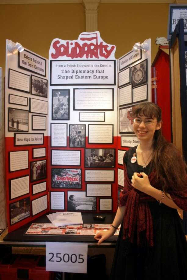 After competing in LSC-Montgom-ery's Regional History Fair this spring, 17-year-old Annie Salinas went on to place first in the National History Day Contest last month in the Washington, D.C., area. Photo: Courtesy Photo