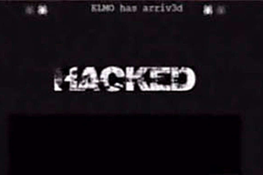 Visitors to the CISD website were greeted with a surprise Sunday afternoon. A hacker invaded the site and left the message 'HACKED.' (Photo courtesy of KHOU-11 news).