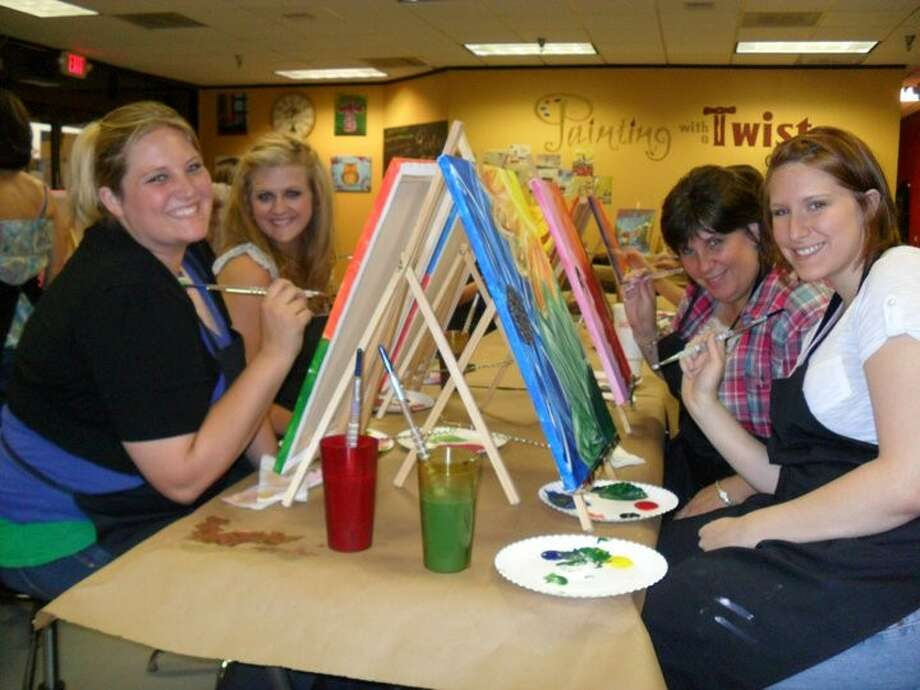Local ladies night events the courier for Painting with a twist conroe
