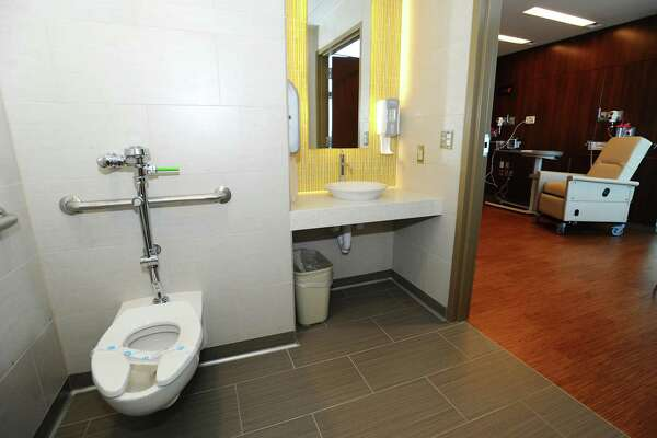 The bathroom of the concierge suite inside the new Stamford Hospital in Stamford, Conn. on Wednesday, Sept. 21, 2016.