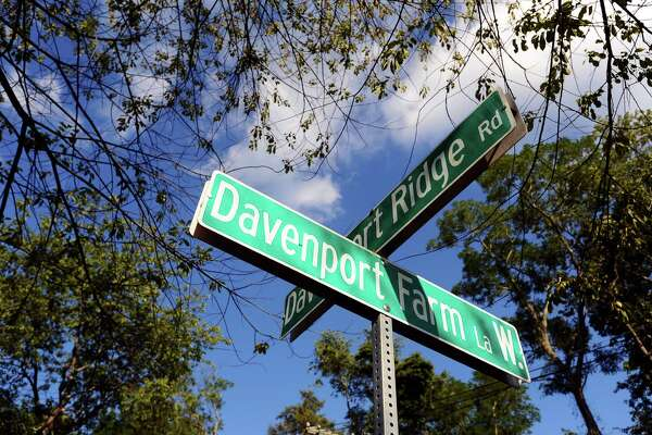 Davenport Farm Lane and Davenport Ridge Road are several streets in north Stamford, Conn. named after Minister John Davenport, who was a key figure in settling the state in the 1700s. Photographed on Thursday, August 18, 2016.