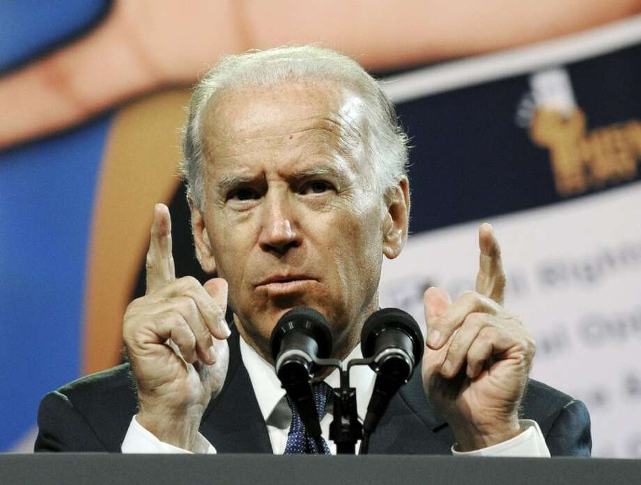 Vice President Joe Biden addresses the NAACP annual convention Thursday in Houston. Photo: Pat Sullivan