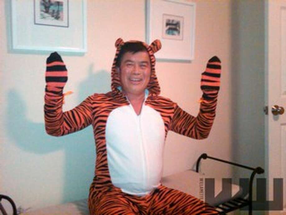 "In this Oct. 2, 2010 file photo provided by the Willamette Week newspaper, Rep. David Wu wears a tiger costume in Portland, Ore. Wu is calling a published report about an alleged unwanted sexual encounter with a young woman ""very serious."" Photo: Anonymous / AP2011"