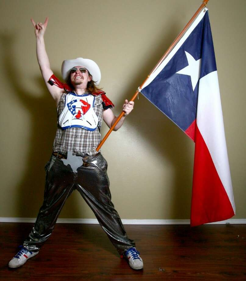 Taylor Fullbright, also known as Brock McRock, competed in the National Air Guitar Championship last Saturday after being invited to a dark-horse competition last week.