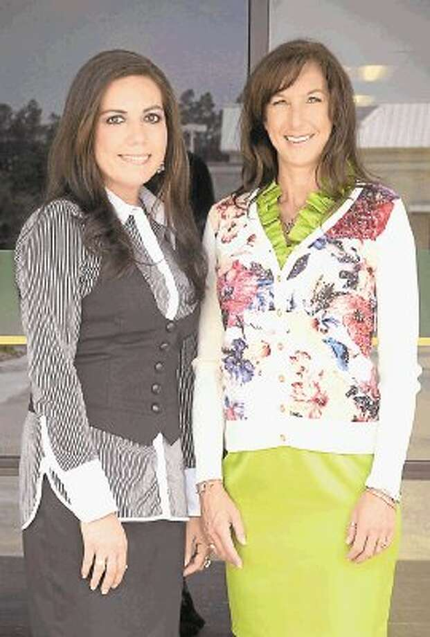 MidSouth Bank's Magnolia location, the 60th in the bank's Louisiana-Texas franchise, is headed by Banking Center Manager Amber Newport, left, and Tina McGriff, who has joined MidSouth Bank as vice president and commercial lender for the Magnolia office. / @WireImgId=2635900