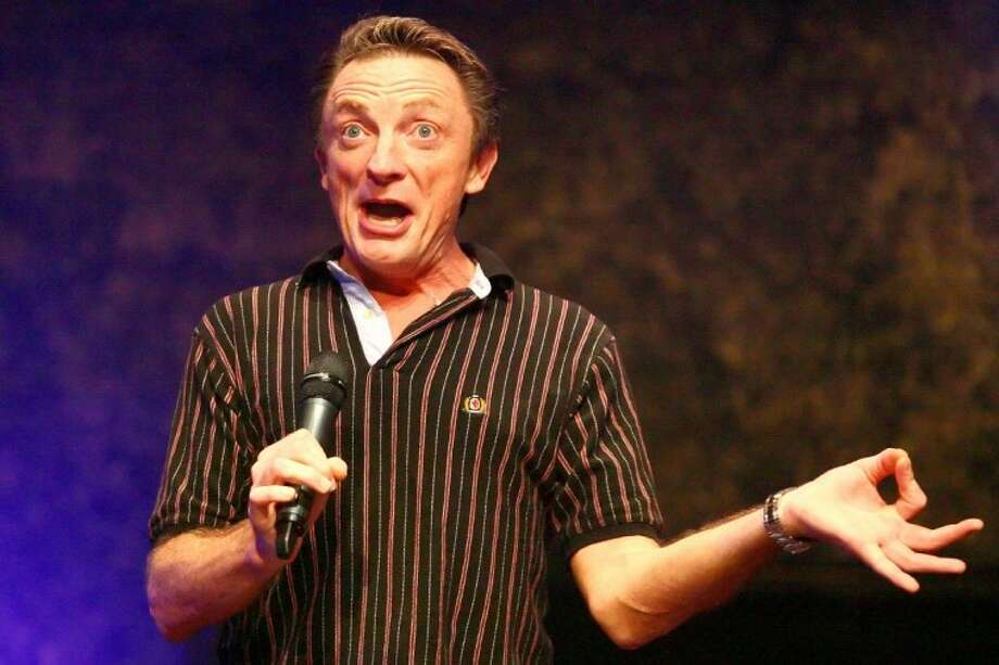 Chrisian comedian Chuck Montgomery performs during Comedy Night at Triumph Christian Center Sunday in Porter.