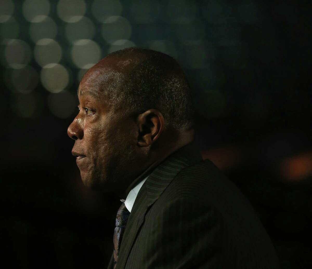 Mayor Sylvester Turner is interviewed after announcing plans for a benefit concert to raise funds and awareness for the Greater Houston Storm Relief Fund featuring Clay Walker at Lakewood Church Monday, May 9, 2016, in Houston. ( Elizabeth Conley / Houston Chronicle )