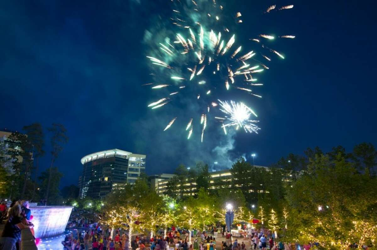 Fireworks in The WoodlandsWaterway Square Sept. 1 and 2