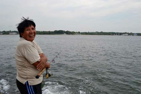 Benny Santacruz, 65, enjoys fishing at the Cove in her spare time.